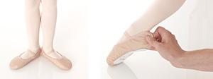 juiste maat balletschoenen